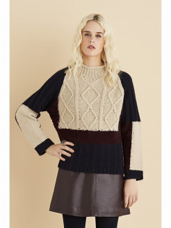 Colorful Sweater with Diamond Pattern
