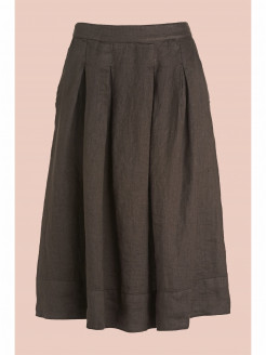 Pleated Skirt in Pure Linen