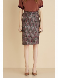 Houndstooth Skirt with Sequins