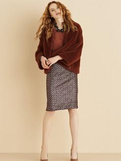 Giacca a kimono in pelliccia ecologica