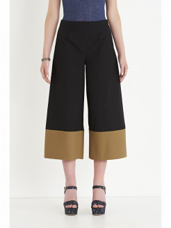 Cropped Pants in Two Color Poplin