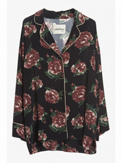 Pyjama Jacket in Print Viscose