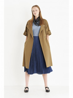 Lightweight Coat in Cotton Gabardine