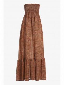 Bandeau Dress in Fancy Silk Blend