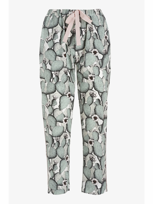Print Pants in Cotton Poplin