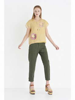 Overlay T-shirt in Silk Organza