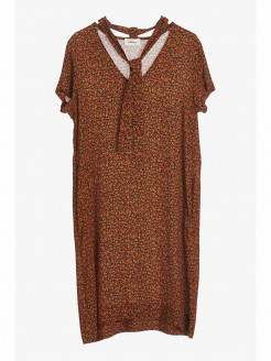 Viscose Crepe Dress with Scarf