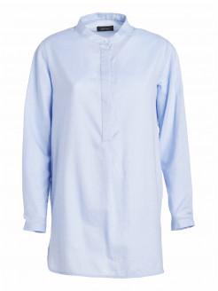 Lange Bluse aus reiner Baumwolle
