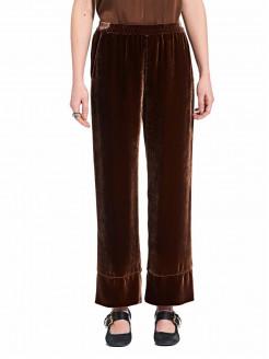 Pantalón de terciopelo de seda y viscosa