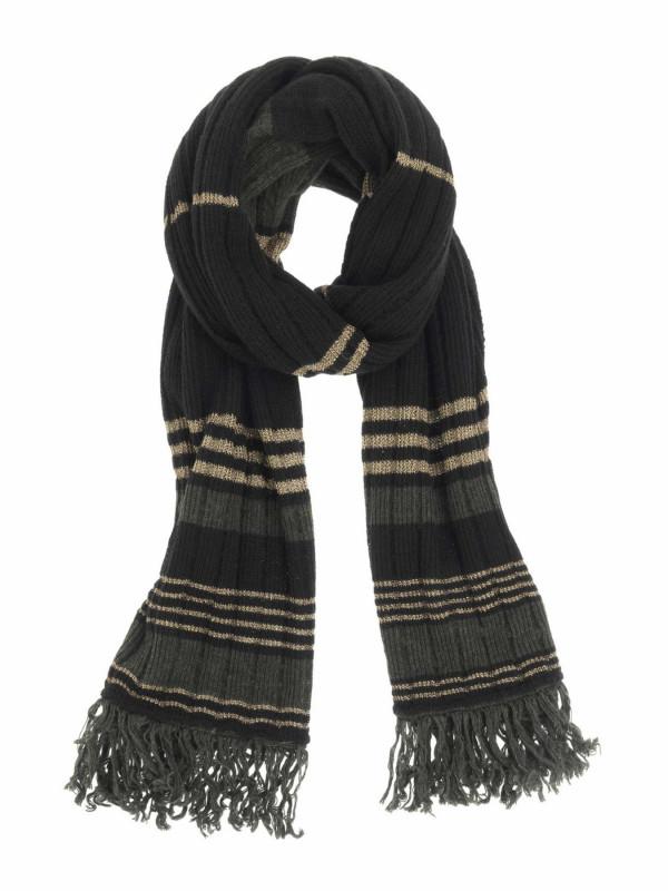 Bufanda de alpaca y lana a rayas