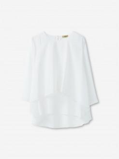 Blusa plisada