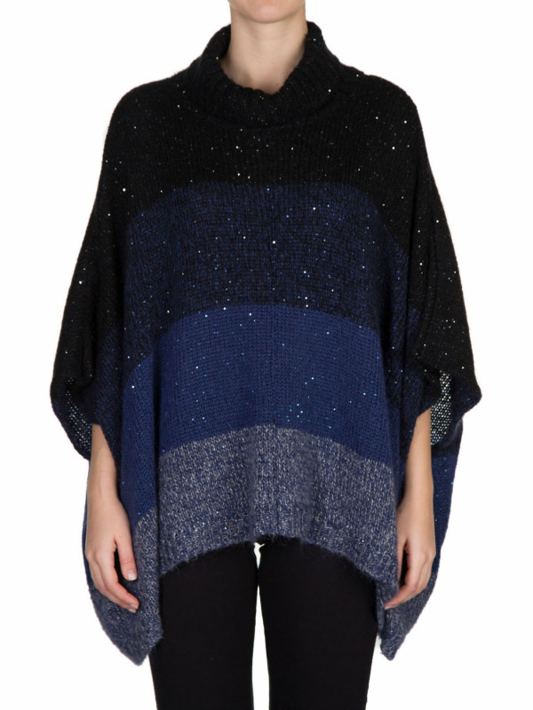 PONCHO BLOCK COLOR COLLO ALTO