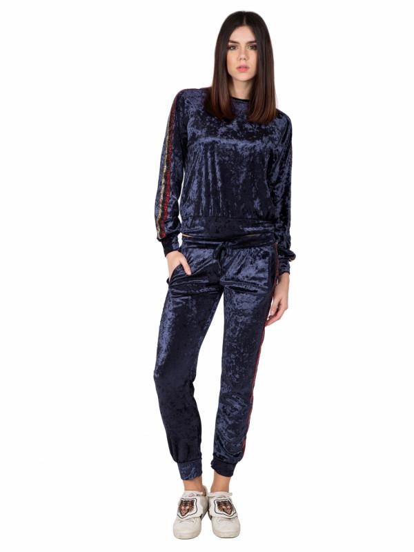 Pantalone Ciniglia con Bandine
