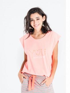 Camiseta cuello pico oversize