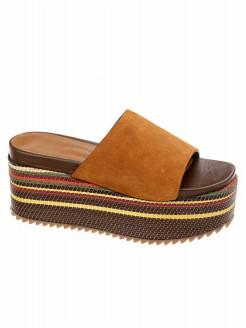Zapato plataforma ante