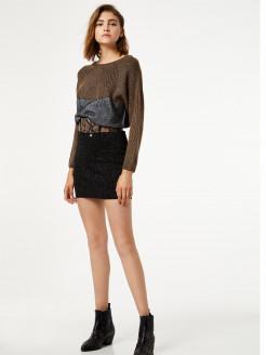 Vestido corto con inserciones de lurex®