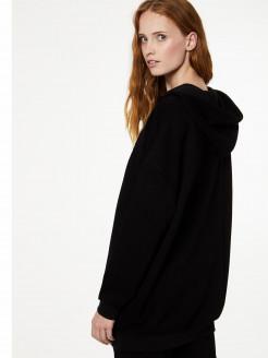 Sudadera larga con capucha
