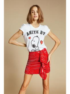 T-SHIRT ROUCHES SNOOPY