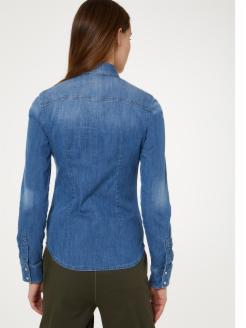 Camisa vaquera de corte entallado | Shop online LIU JO