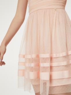 Vestido corto de plumetis