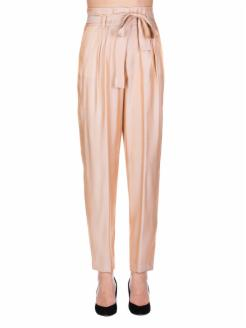 pants with bow, tornasol salmon and gold