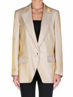 gold oversized blazer