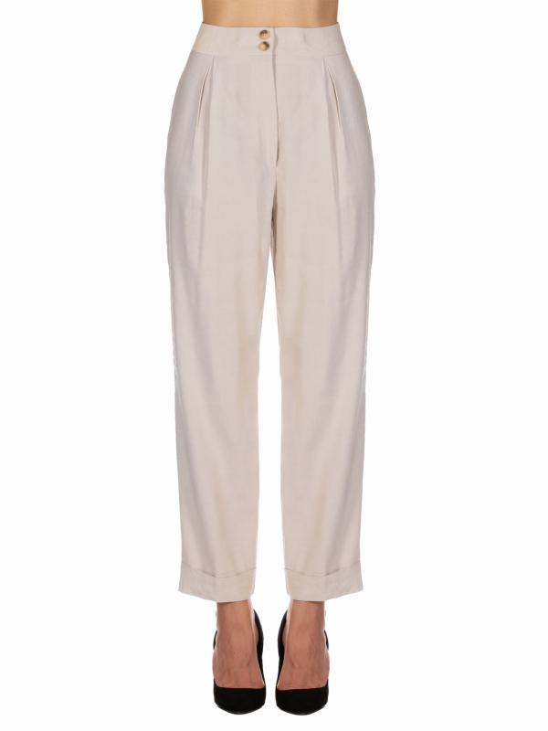 Pantalón de lino y viscosa