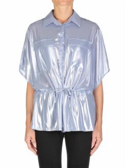 Camisa en georgette laminado