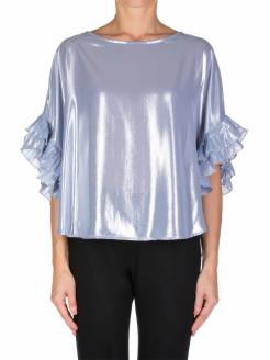 Blusa mangas plisadas