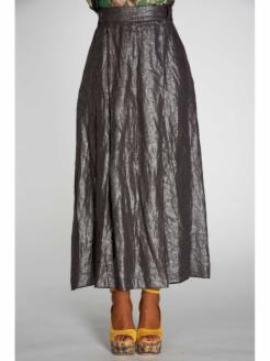 Falda midi lino brillante