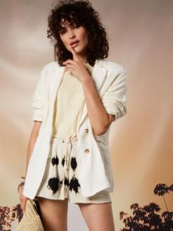 loose fit blazer linen