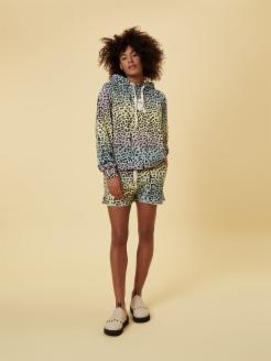 hoodie leopard sunset