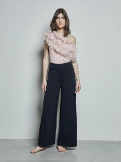 Pantalone cropped in jersey