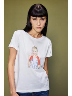 Camiseta estampada Miley...