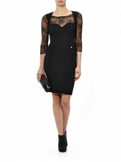 Straight cut dress, lace...