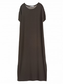 ROUND NECK SILK DRESS