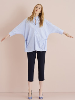 Soft Trousers in Smooth Crepe